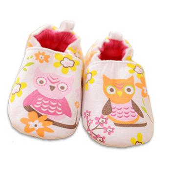 純棉軟底防滑嬰兒學步鞋【2雙入】-貓頭鷹+隨機一雙