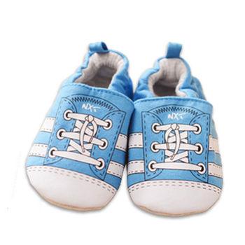 純棉軟底防滑嬰兒學步鞋【2雙入】-印花鞋帶+隨機一雙