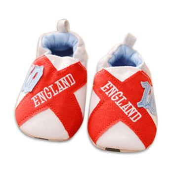 純棉軟底防滑嬰兒學步鞋【2雙入】-英格蘭+隨機一雙