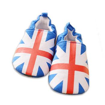 純棉軟底防滑嬰兒學步鞋【2雙入】-寶藍米字+隨機一雙