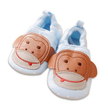 純棉軟底防滑嬰兒學步鞋【2雙入】-猴子+隨機一雙