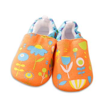 純棉軟底防滑嬰兒學步鞋【2雙入】-花朵+隨機一雙