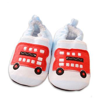 純棉軟底防滑嬰兒學步鞋【2雙入】-汽車+隨機一雙
