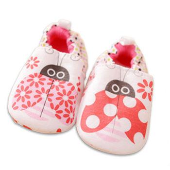 純棉軟底防滑嬰兒學步鞋【2雙入】-瓢蟲+隨機一雙