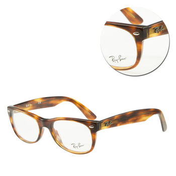 【Ray Ban】復古粗框琥珀圓形光學眼鏡(RB5184-2144) NEW WAYFARER