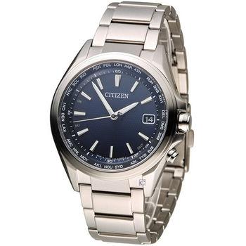 星辰 CITIZEN 五局電波光動能鈦金屬腕錶 CB1070-56L
