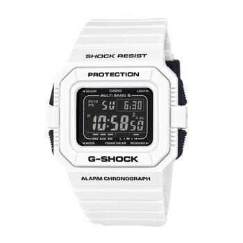 G-SHOCK 改革創新大躍進全能電波裝置運動腕錶-白-GW-5510BW-7