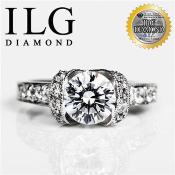 ILG鑽-閃耀佳麗款-頂級八心八箭擬真鑽石戒指 RI068-主鑽2克拉 OL小資女女朋友最愛