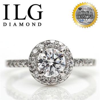 ILG鑽-頂級八心八箭擬真鑽石戒指-RI008-巴黎名款鑽戒 主鑽1克拉 異國風情迷人風格
