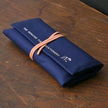 日本 hightide 帆布筆袋 - 深藍色