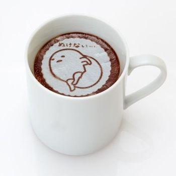 日本 一秒拉花師 蛋黃哥 拿鐵咖啡拉花片(一包5入)