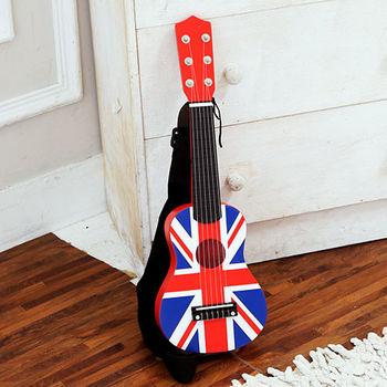 樂兒學 英國國旗木製兒童吉他附吉他袋/背帶