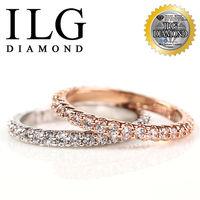 ILG鑽~ 八心八箭擬真鑽石戒指~滿鑽線戒 打版訂婚 一克拉鑽戒RI063.64