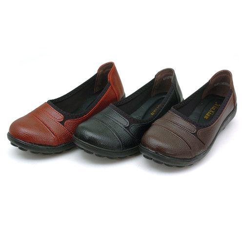 【cher美鞋】手工縫線彈力舒適休閒鞋  (棕 紅2色)  D56-125