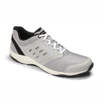 【美國VIONIC法歐尼】健康美體時尚運動鞋 Contest(康特斯特)男鞋-灰白色