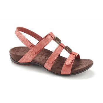 【美國VIONIC法歐尼】健康美體時尚鞋 Amber琥珀女士涼鞋-珊瑚紅