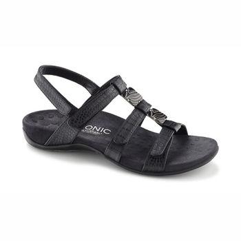 美國VIONIC法歐尼】健康美體時尚鞋 Amber琥珀女士涼鞋-亮黑色
