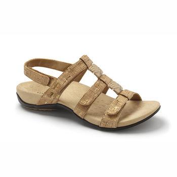 【美國VIONIC法歐尼】健康美體時尚鞋 Amber琥珀女士涼鞋-黃金木色