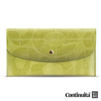 【Continuita 康緹尼】台灣手工真皮 MIT 真皮信封皮夾 (黃色)