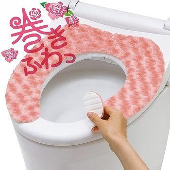 日本製造LEC加厚型馬桶座墊貼(玫瑰絨)