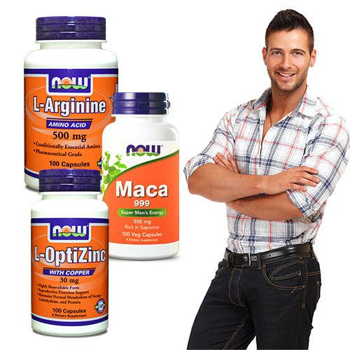 NOW健而婷- 維持巔峰套組(瑪卡MACA+精胺酸一氧化氮+鋅)