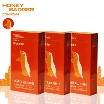 HONEYBADGER蜜歡家族保險套-哈哈樂零零參(超薄)12入裝/三盒