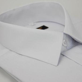 【金安德森】白色細紋壓光易整燙窄版長袖襯衫
