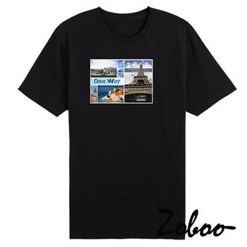 【ZOBOO】ZB014(ONEWAY悠遊旅棉短袖T恤)