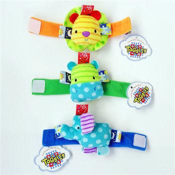 可愛立體寶寶鈴鐺腕帶手錶【3入】-河馬+獅子+隨機一個