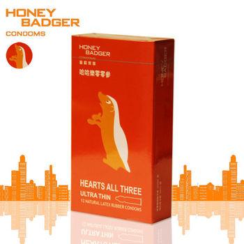 HONEYBADGER蜜歡家族保險套-哈哈樂零零參(超薄)12入裝/盒