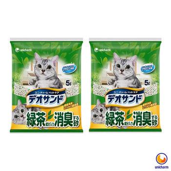 【Unicharm】日本消臭大師 消臭礦砂 綠茶香 5L X 2包入