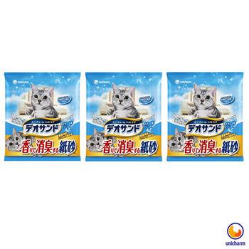 【Unicharm】日本消臭大師 消臭紙砂 肥皂香 5L X 3包入