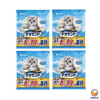 【Unicharm】日本消臭大師 消臭紙砂 肥皂香 5L X 4包入