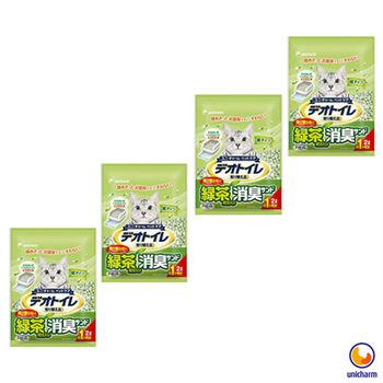 【Unicharm】日本消臭大師 一月間消臭抗菌綠茶紙砂 2L X 4包入