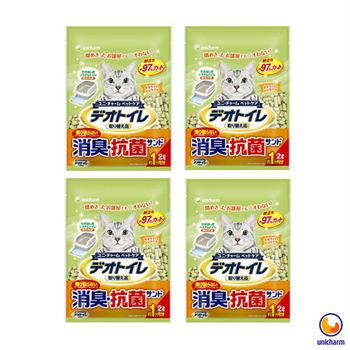 【Unicharm】日本消臭大師 一月間消臭抗菌沸石砂 2L X 4包入