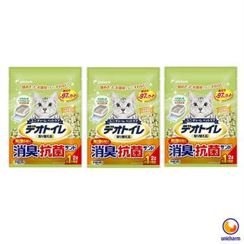 【Unicharm】日本消臭大師 一月間消臭抗菌沸石砂 2L X 3包入