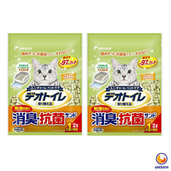 【Unicharm】日本消臭大師 一月間消臭抗菌沸石砂 2L X 2包入