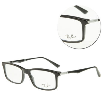 【Ray Ban】方形細框黑色光學眼鏡(RB5269-2000)