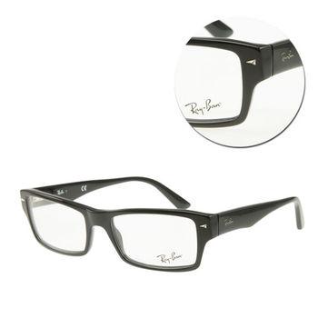 【Ray Ban】長方全框黑色光學眼鏡(RB5254-2000)