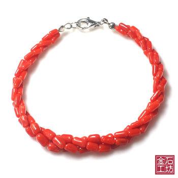 【金石工坊】天然沙丁珊瑚尊崇手鍊3條轉