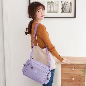 【TOPMAST毛線貓】雙側口袋斜背包(粉嫩紫)#1502