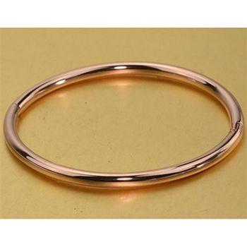 【米蘭精品】玫瑰金純銀手環韓國簡約光面飾品