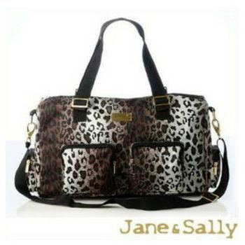 【JaneSally】Sports系列風尚運動包/旅行袋-豹紋