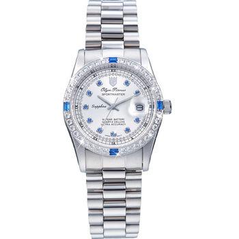 Olym Pianus奧柏表-豪情系列都會爵士時尚晶鑽腕錶 68322DW
