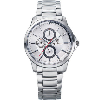 Olym Pianus奧柏表-勁裝前衛石英腕錶(睿智灰) 890-08MS
