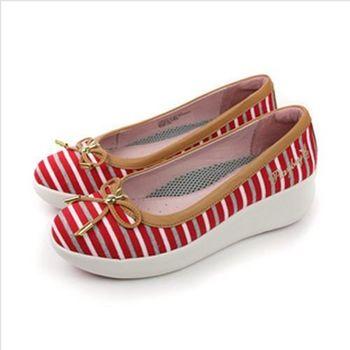 PLAYBOY 兔子LOGO 休閒鞋 紅 女款 no863