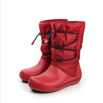 Crocs 靴子 紅 女款 no280