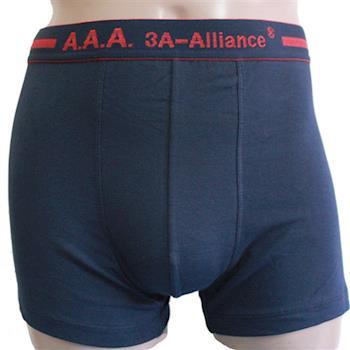 【3A-Alliance】 男性基本單色系列四角內褲 M4505 藍色