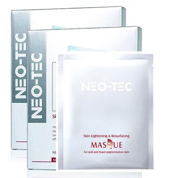 NEO-TEC妮傲絲翠 杏仁酸柔煥膚激光美白面膜(4片/盒) 2盒組(加贈妮傲絲翠體驗包*3)