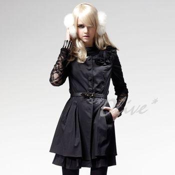 【CHENG DA】秋冬專櫃精品女裝時尚素雅風衣外套NO.303329 (現貨+預購)